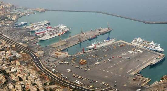 Heraklion port