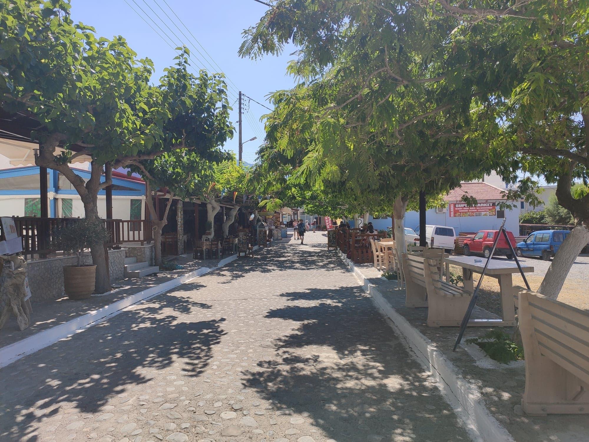 Agia roumeli pedestrian street