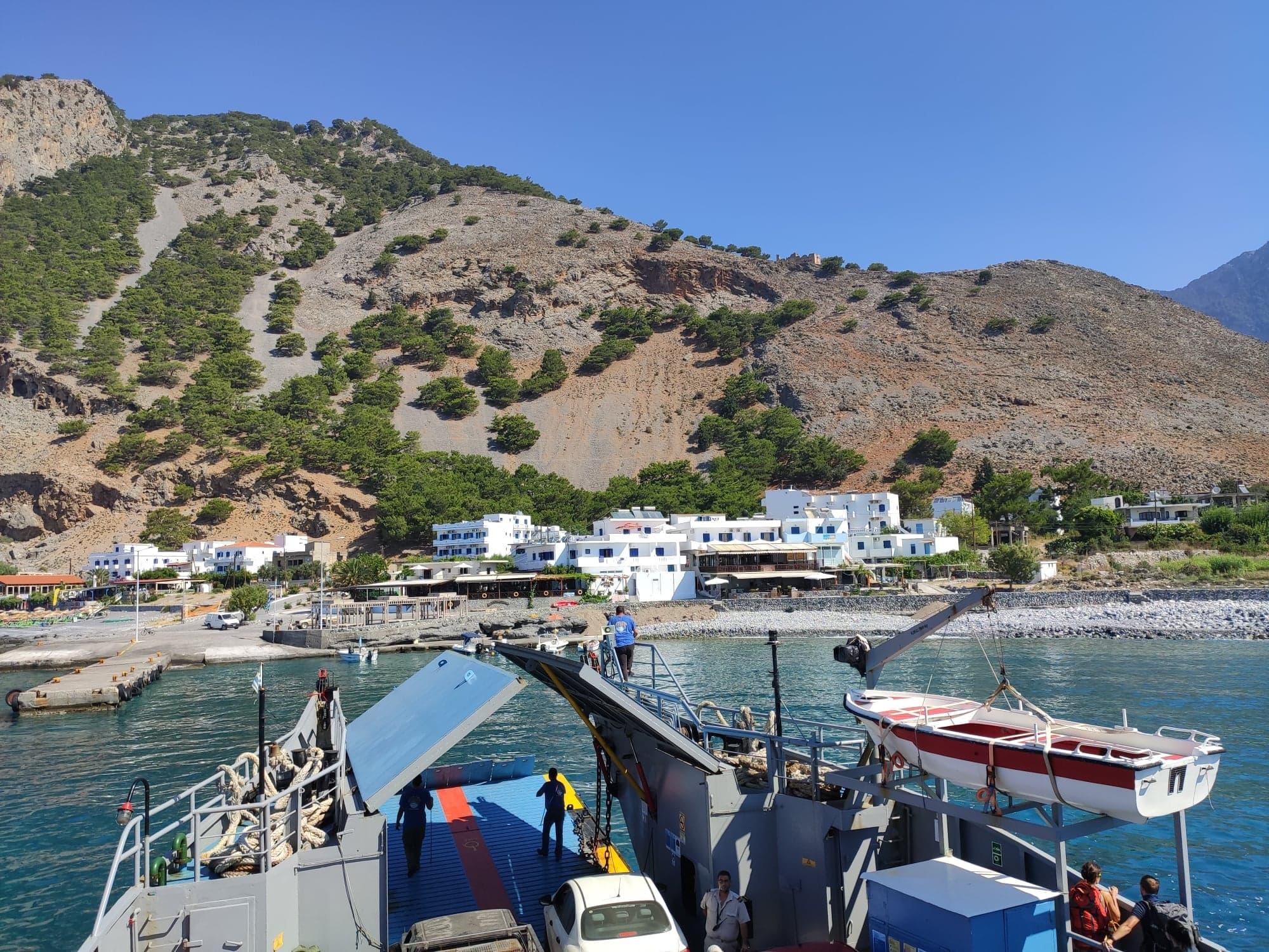 Ferry from Agia roumeli